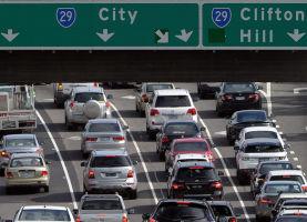 Traffic on the Tullamarine Freeway