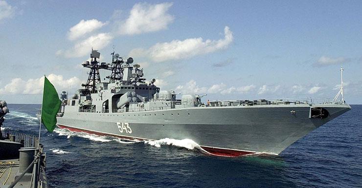 Russian warship Marshal Shaposhnikov