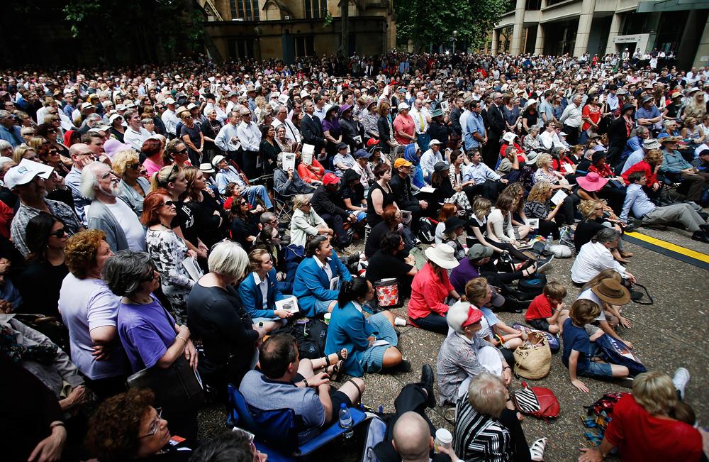 Gough Whitlam memorial crowds