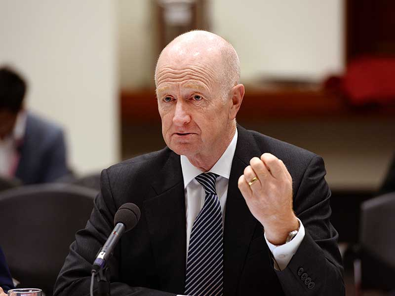 RBA Governor Glenn Stevens calls for budget control AAP