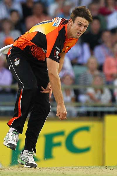 Mitch Marsh in action. Photo: Getty