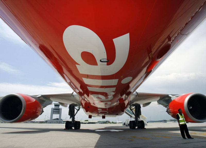 The AirAsia plane went the wrong way and ended up in Melbourne.