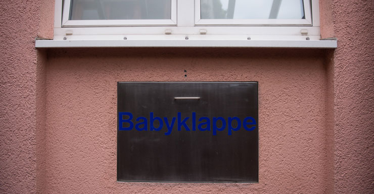 A 'Babyklappe' (baby hatch) of the St Joseph hospital in Germany.