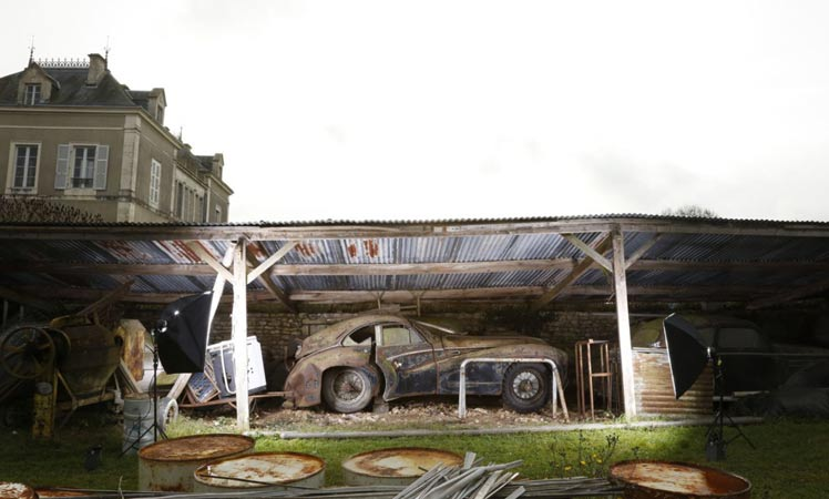 The cars were found in various out buildings on a property in a small French village.