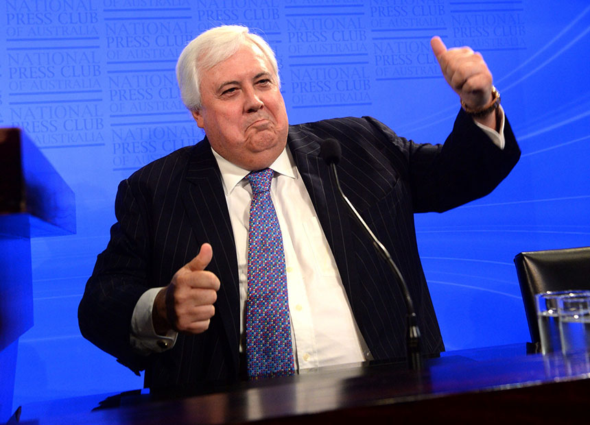 Clive palmer s press club address turns to high farce for Farcical xword
