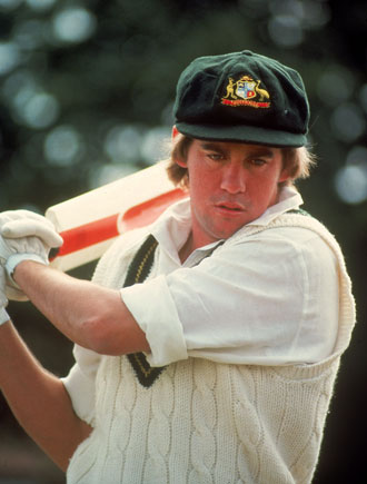 David Hookes had his jaw broken during World Series Cricket. Photo: Getty