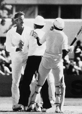 Dennis Lillee tormented batsmen in more ways than one. Photo: AAP