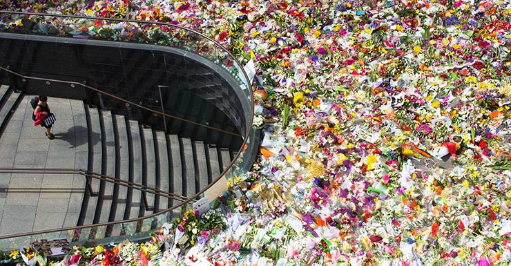 Martin Place flowers