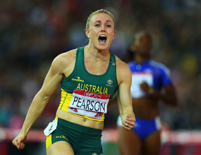 Sally Pearson sets a bad example in Glasgow. Photo: Getty