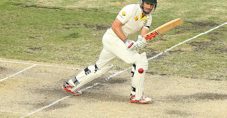 Shaun Marsh fought back from a shaky start to play a key innings.