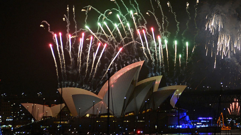 Vale rings in the New Year with fireworks
