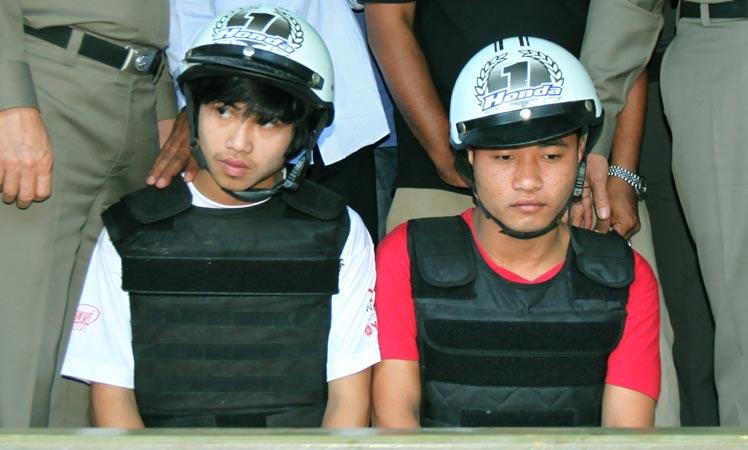 Convicted murderers Win Zaw Htun (left) and Zaw Lin.
