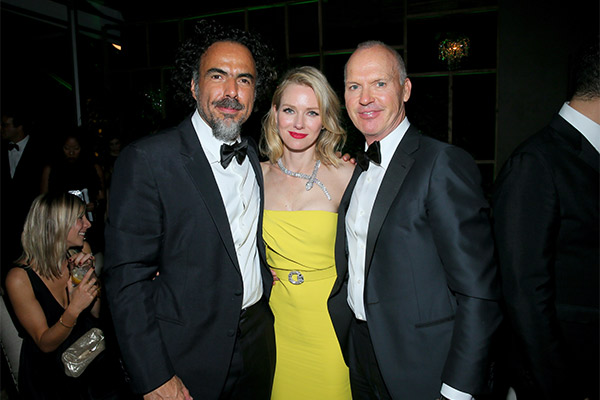 With Iñárritu and Watts at the Golden Globes. Photo: Getty