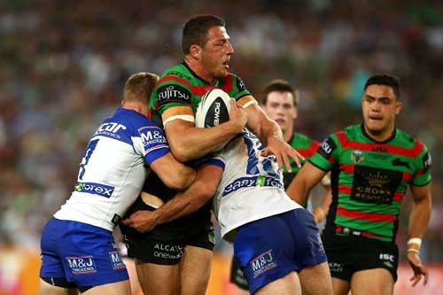 Sam Burgess was heroic in a white-hot NRL Grand Final. Photo: Getty