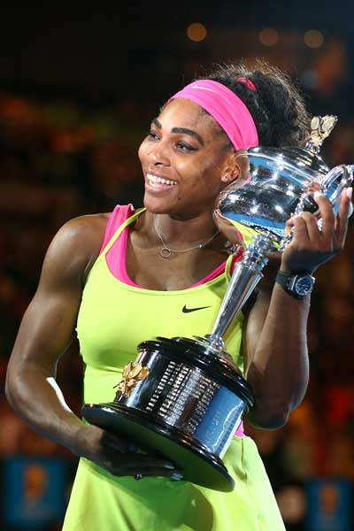 The victory was Williams' sixth Australian Open title. Photo: Getty