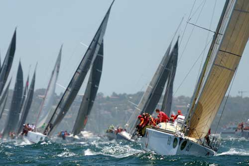 The Sydney to Hobart is one of the world's most famous yacht races. Photo: Getty