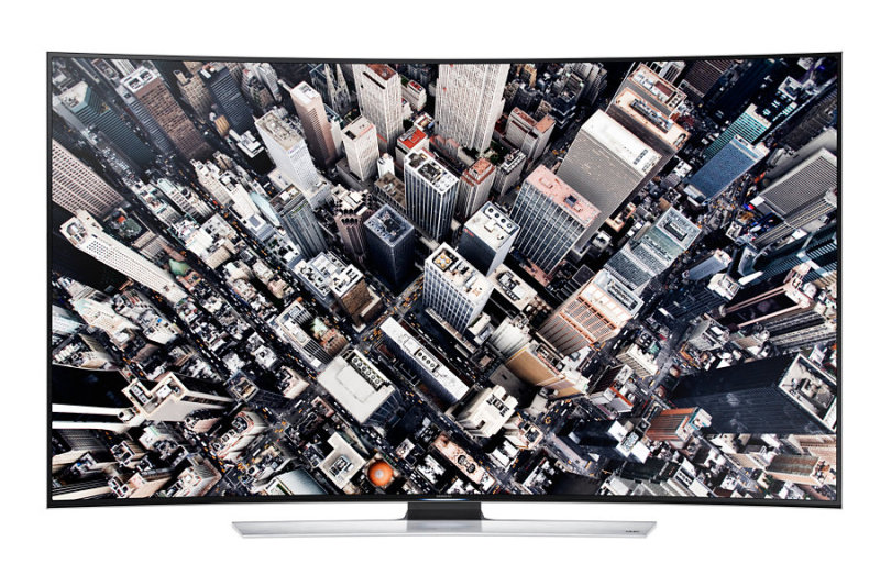 Samsung's UHD offerings include curved screen televisions.