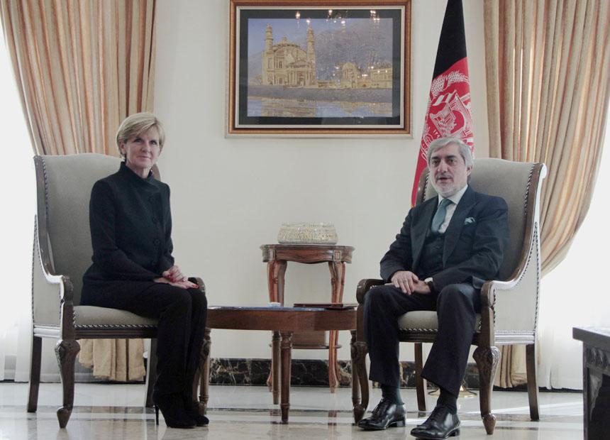 Julie Bishop Afghanistan