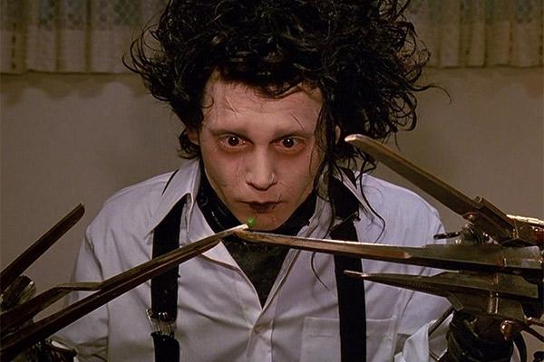 Depp transfixed audiences as Edward Scissorhands.