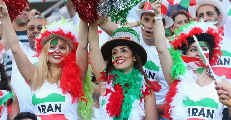Iranian football fans Asian Cup