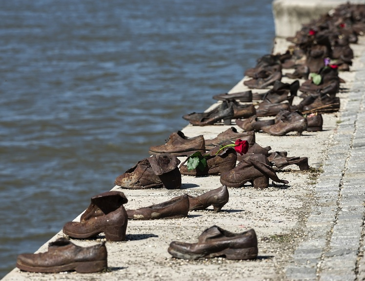 The Shoes on the Danube Bank memorial pays tribute to Jewish victims of WW2. Photo: Shutterstock