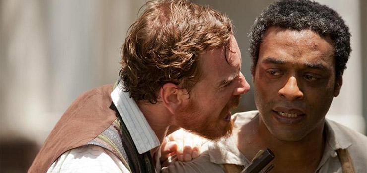 Michael Fassbender and Chiwetel Ejiofor in the 2014 Oscar winning Film Twelve Years A Slave.