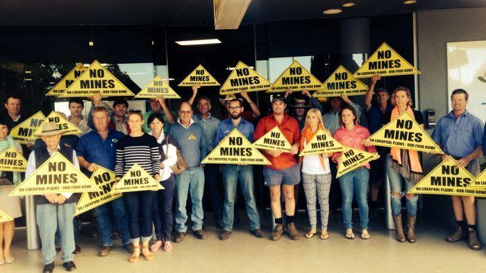 Farmers protest mining