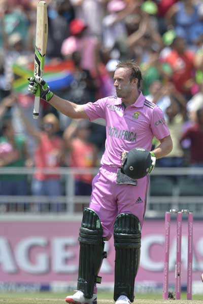 Pretty in pink: AB de Villiers. Photo: Getty