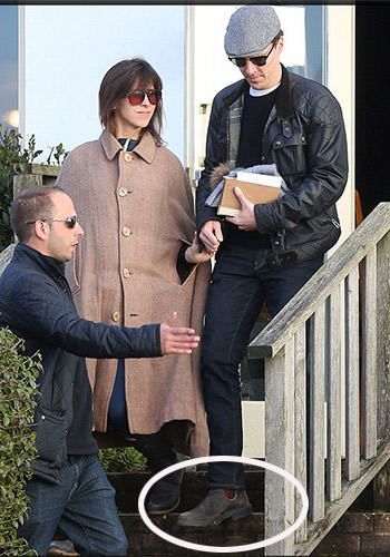 Newlyweds Benedict Cumberbatch and his new wife Sophie Hunter have created a stir with their interesting choice of attire. Photo: Daily Mail