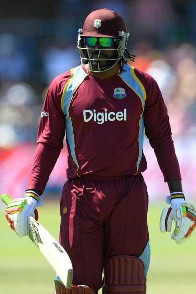 West Indies blaster Chris Gayle. Photo: Getty