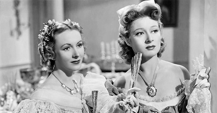 Greer Garson (right) in the 1940 film adaptation of Pride and Prejudice is one of the most famous actresses in cinema history.