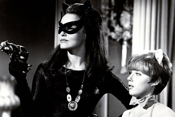 Gore (left) in Batman in 1967 with Julie Newmar.
