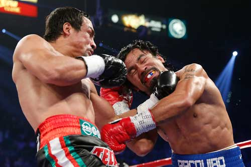 Shopworn: Manny Pacquiao is not the same manic buzz saw he was a few years ago. Photo: Getty