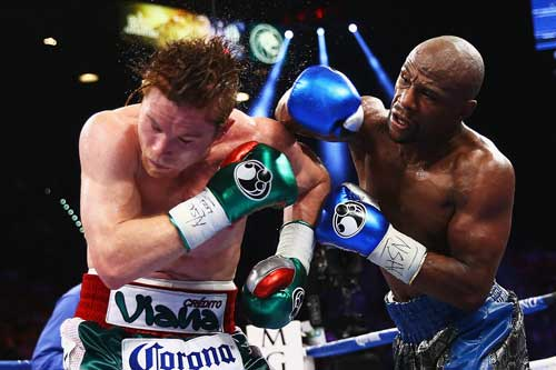 Mayweather's fight with Saul Alvarez grossed $150 million. Like most of his fights, it wasn't close. Photo: Getty