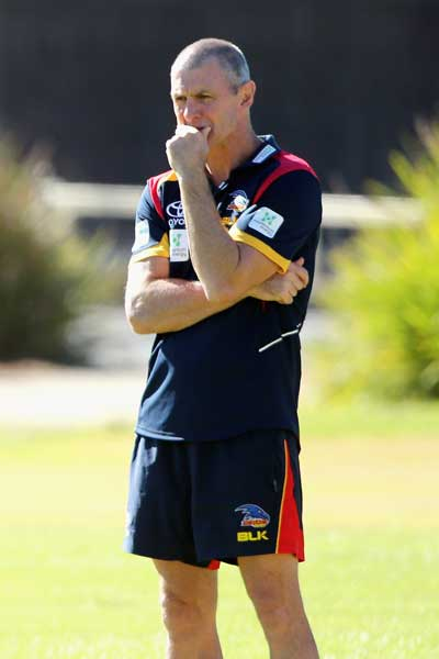 Coach Phil Walsh may be the Crows recruit under most scrutiny this pre-season. Photo: Getty