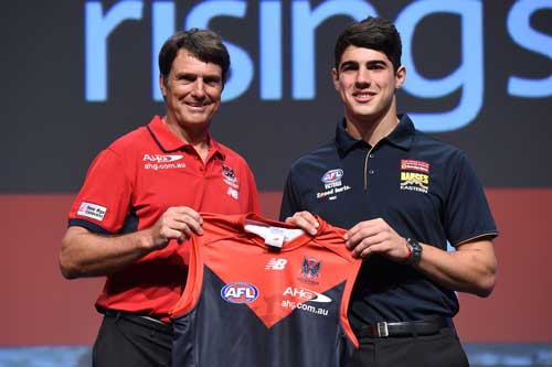 Christian Petracca has found out how tough AFL footy can be - and he hasn't played a game.  Photo: Getty