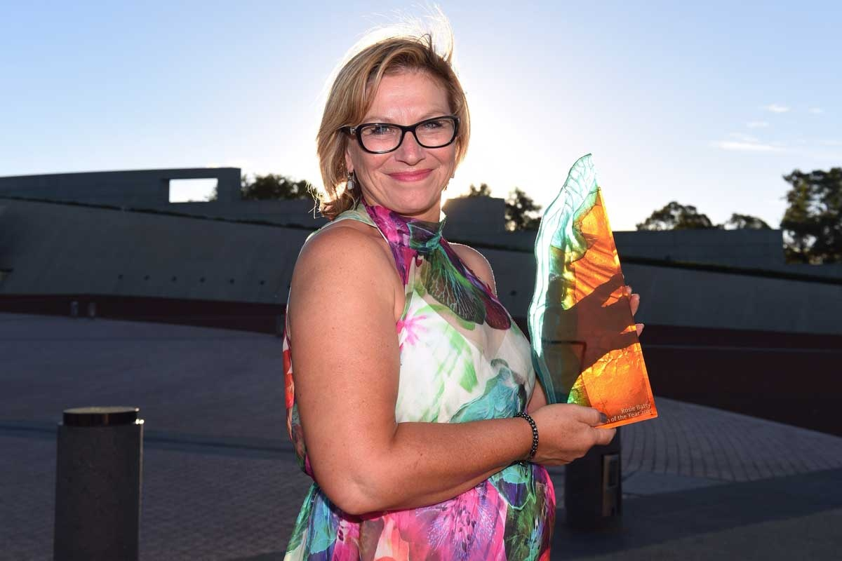 Rosie Batty with her Australian of the Year award.