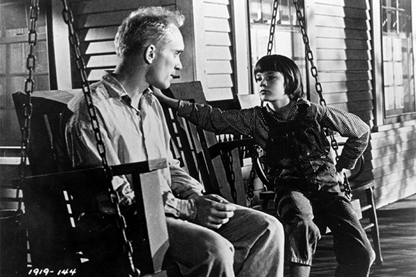 Robert Duvall and Mary Badham as Boo Radley and Scout Finch in To Kill A Mockingbird. Photo: AAP