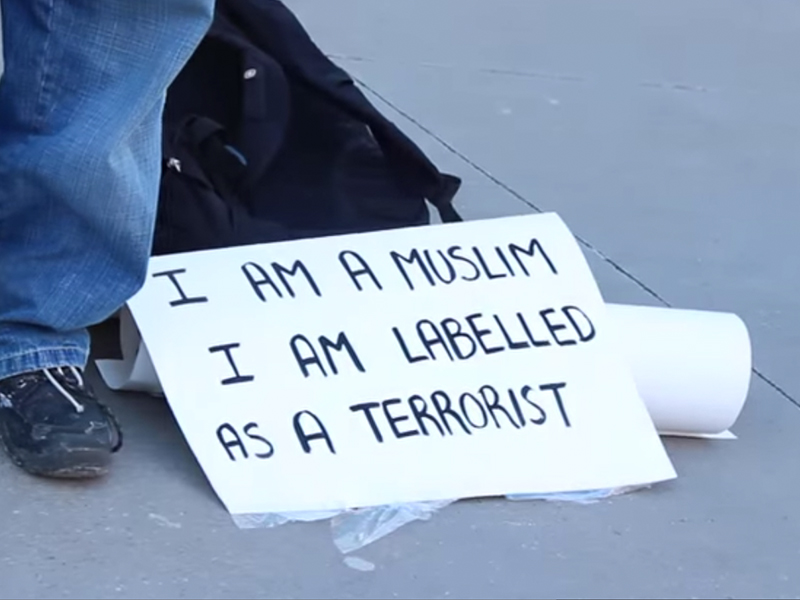 """I am Muslim I am labelled as a terrorist"""