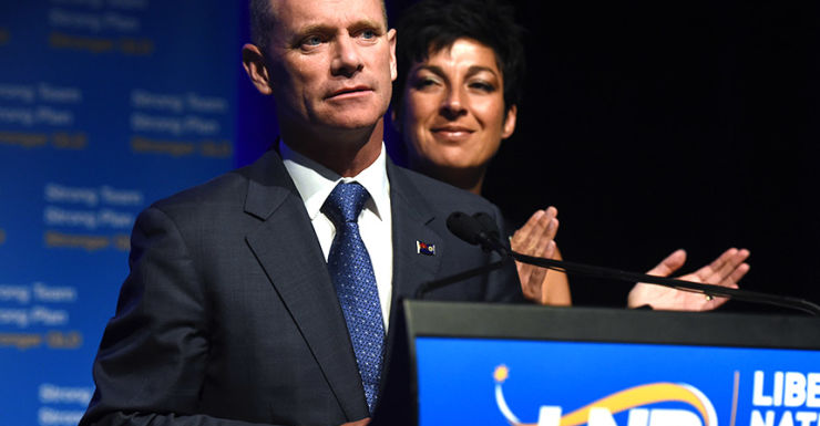 Campbell Newman and his wife