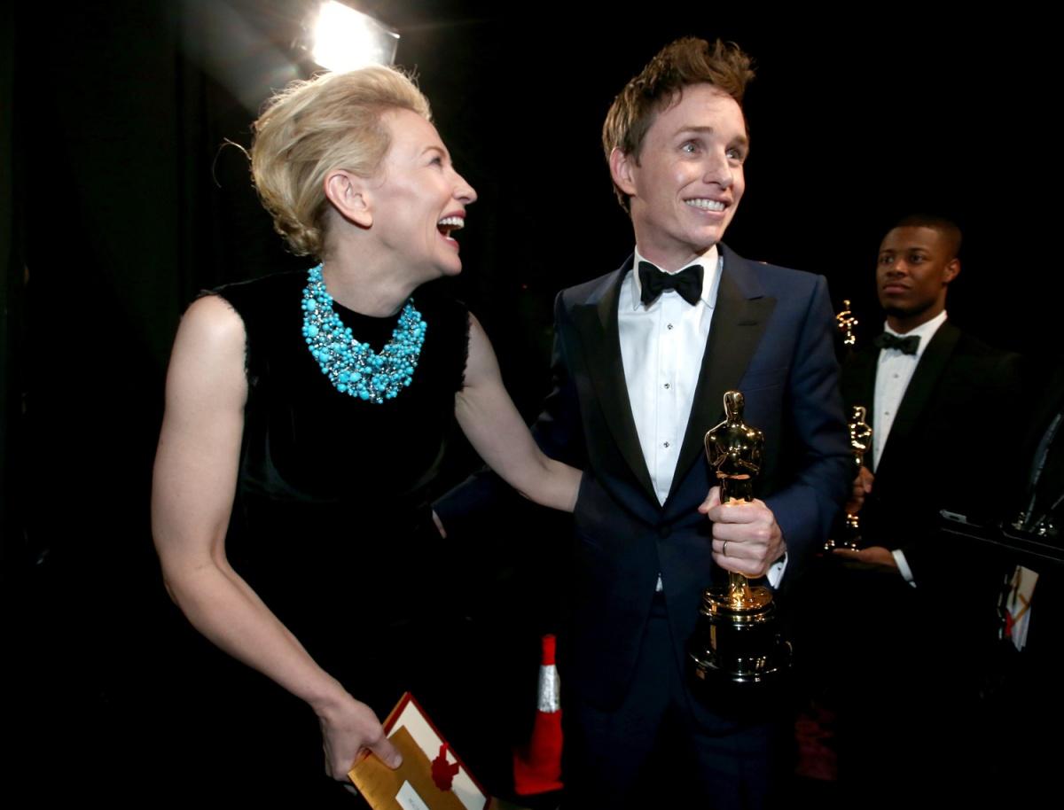 Cate Blanchett Eddie Redmayne Oscars