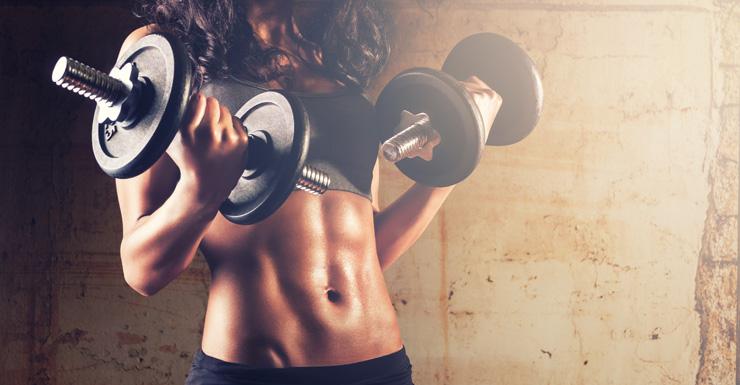 Female weights Shutterstock