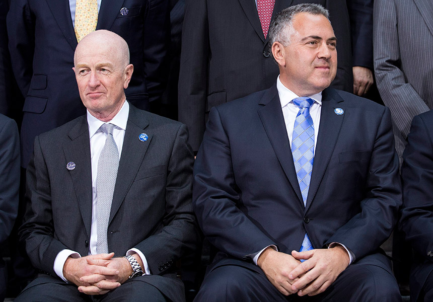 Glenn Stevens and Joe Hockey