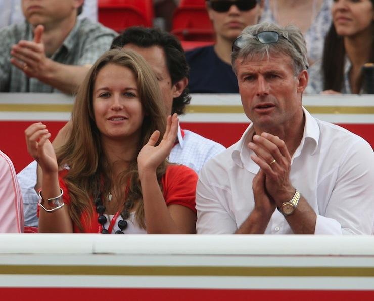 Kim Sears with her father, Nigel.