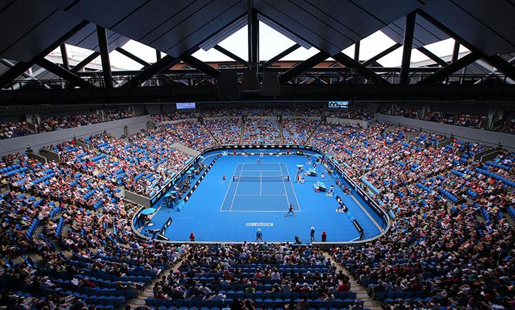 Margaret Court Arena, a happy medium.