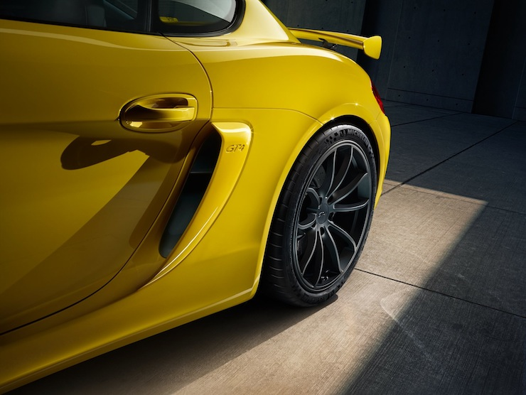 The GT4's wheels are significantly larger than previous models.