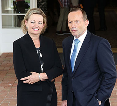 The Prime Minister with his second Cabinet minister, Susan Ley. Photo: Getty