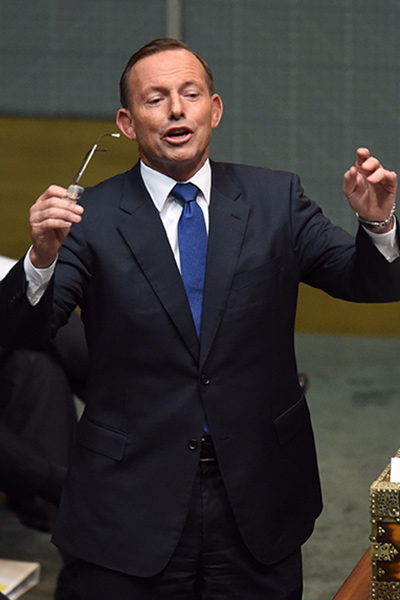 Tony Abbott in parliament