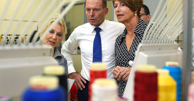 Tony Abbott with wife Margie