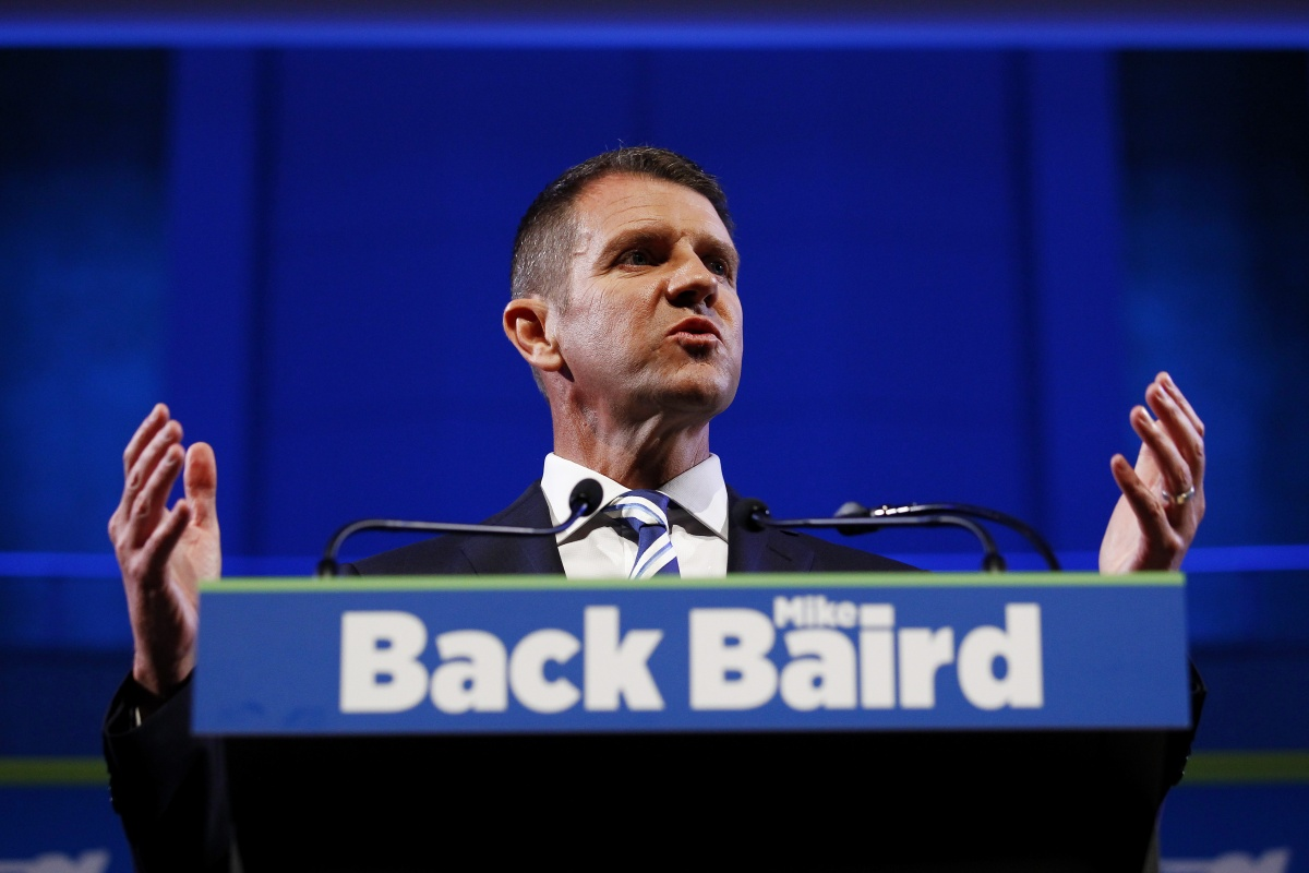 Premier Mike Baird's Liberal election campaign launch